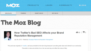 Moz.com - How Twitter's Bad SEO Affects your Brand Reputation Management